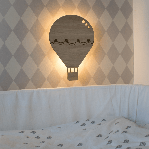 Maseliving lampe luftballon valnød