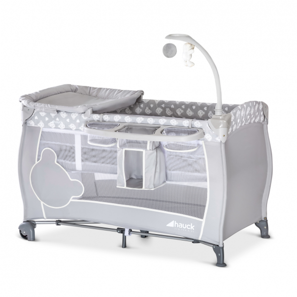 Hauck Select Babycenter rejseseng - teddy grey
