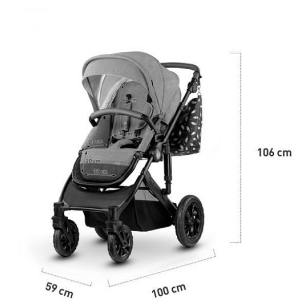 Kinderkraft PRIME 2in1 kombivogn 2020 - mørkeblå