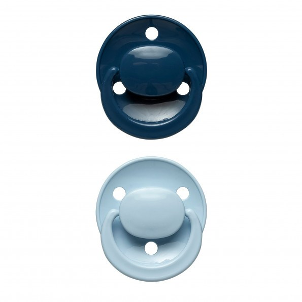 Tiny Republic 2-pak rund silikone sut - Blå/Lyseblå