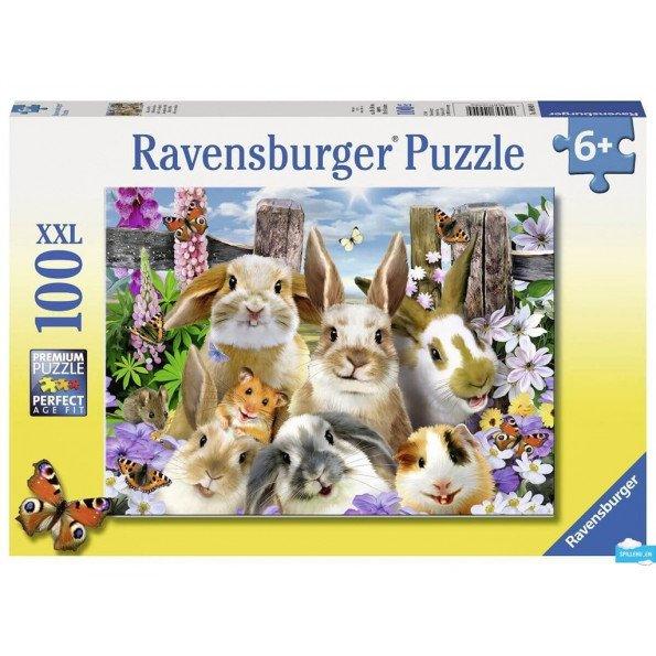 Ravensburger Rabbit Selfie puslespil - 100 brikker