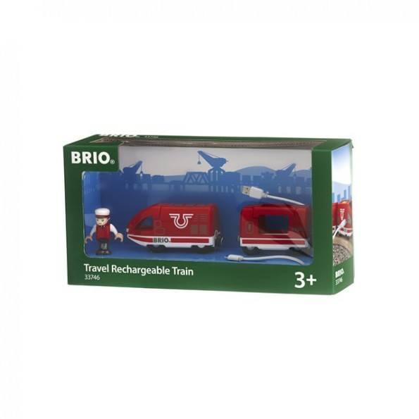 BRIO World - Genopladeligt tog med USB - 33746