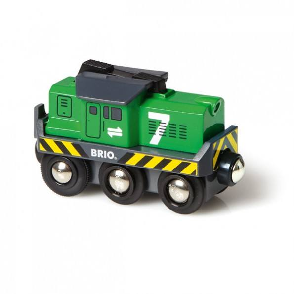 BRIO World - Fragtlokomotiv, batteridrevet - 33214