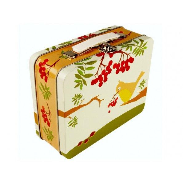 Blafre vintage kuffert - fugl