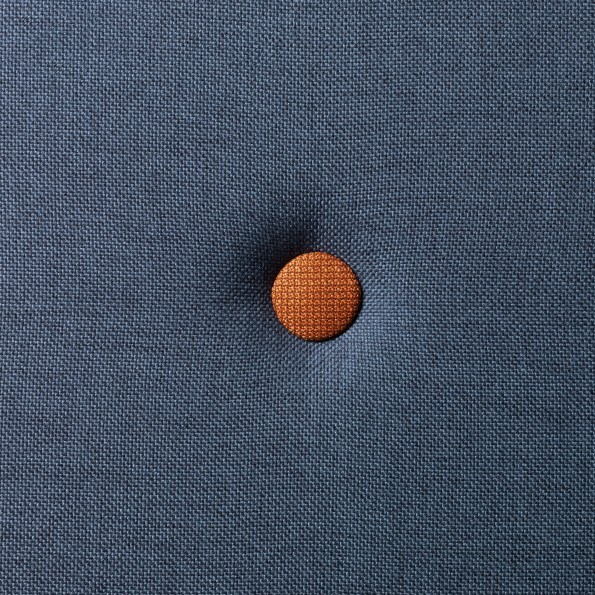 By KlipKlap KK 4 Fold - Mørk Blå m Orange Knapper