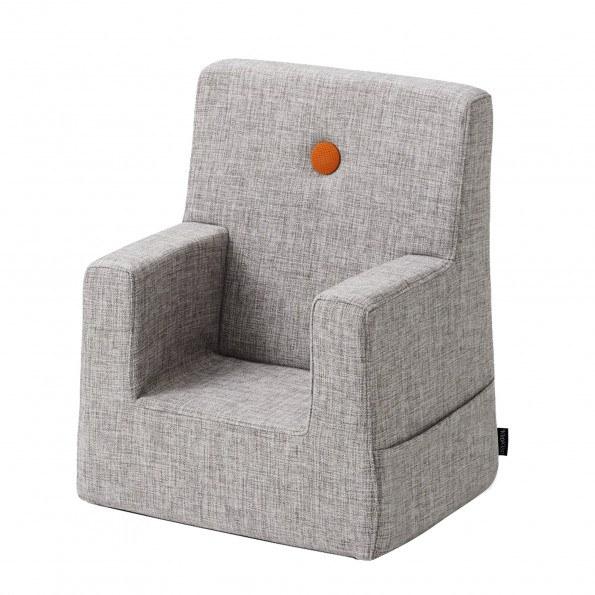 By KlipKlap Kids Chair - Grå m Orange Knap