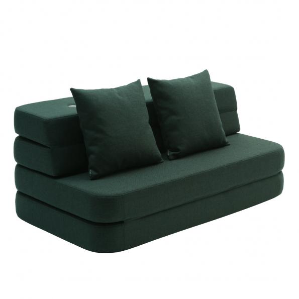 By Klipklap 3 fold sofa XL - Mørkegrøn