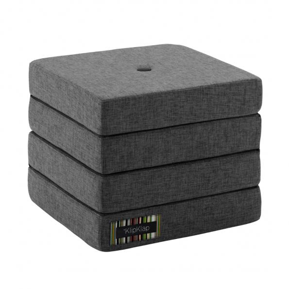 By KlipKlap 4 Fold madras - Mørkegrå