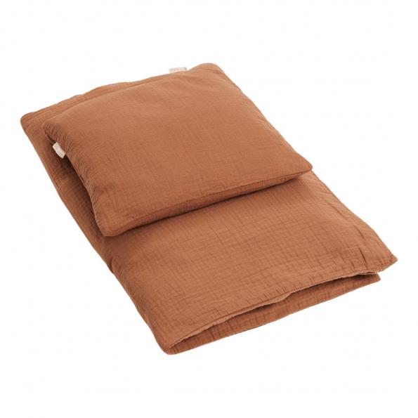 By Klipklap Petite juniorsengetøj - Camel brown
