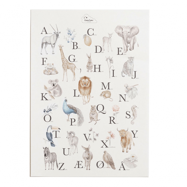 Cam Cam alfabet plakat – dyr og planter