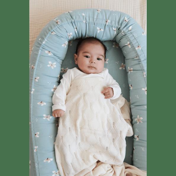 Cam Cam babynest – windflower blue
