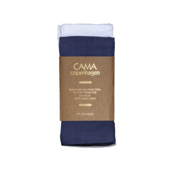 CAMA Copenhagen stofble - Hvid/blå - 65x42 cm