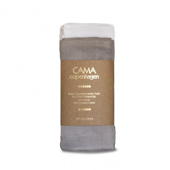 CAMA Copenhagen stofble - Hvid/grå - 65x42 cm