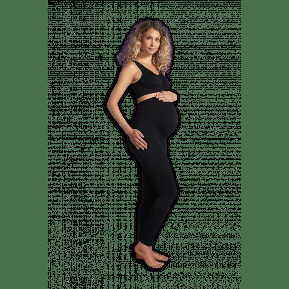 Carriwell Seamless graviditets leggings m. støtte – Sort