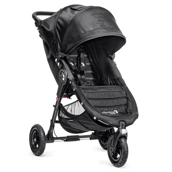 Baby Jogger City Mini GT Single klapvogn - sort inkl. Voksi Blue Dot