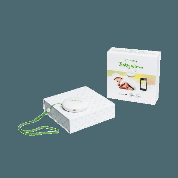Nabby Babyalarm til smartphone - Hvid