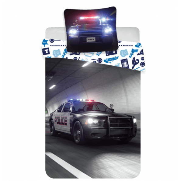 Politi Sengetøj 140x200 cm - Blå