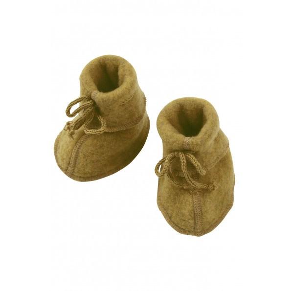 Engel babyfutter i uldfleece - Safran Melange