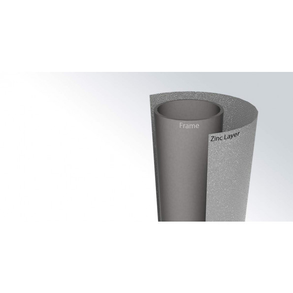 BERG Favorit InGround Grey m. net - Ø330 cm