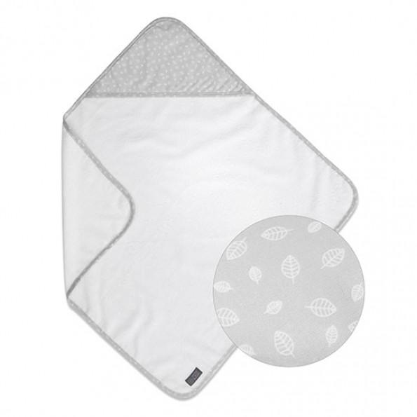 Vinter & Bloom Nordic Leaf badehåndklæde - Calm Grey