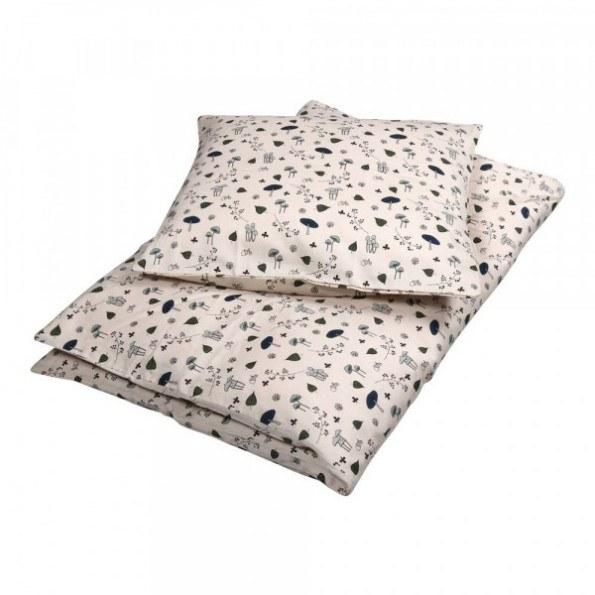 Filibabba junior sengetøj - Forest Floor blue - 100x140 cm.