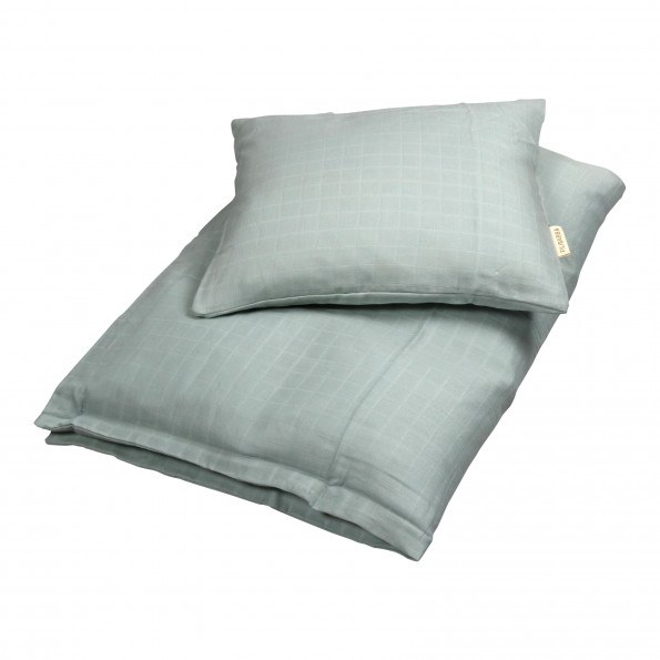 Filibabba baby sengetøj - dark mint - 70x100 cm.