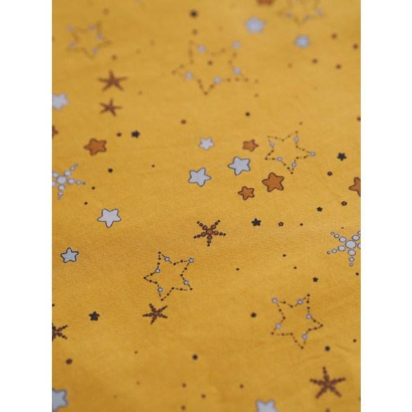 Filibabba juniorsengetøj stars - golden mustard