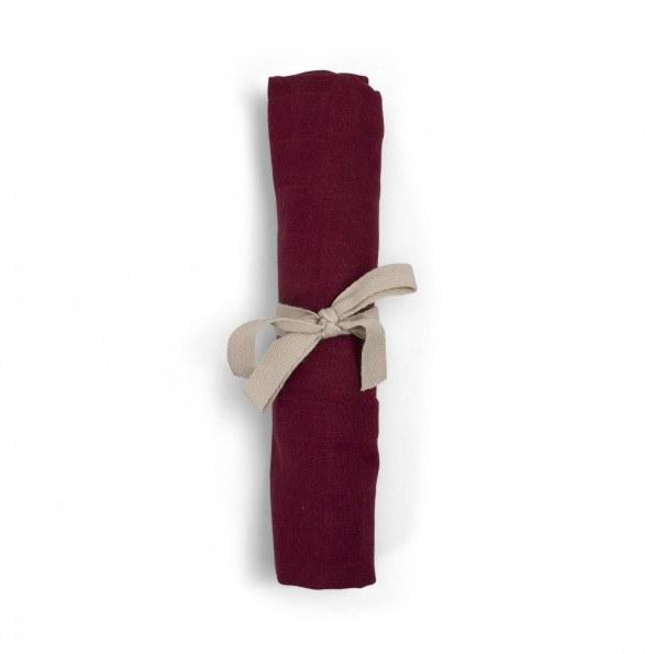 Filibabba muslin stofble - deeply red