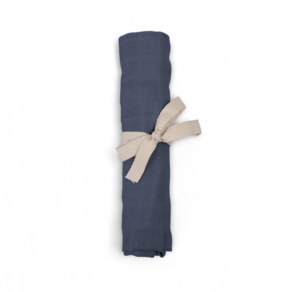 Filibabba muslin stofble - muddly blue