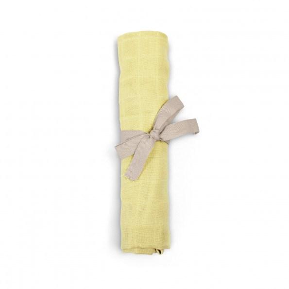 Filibabba muslin stofble - pale banana