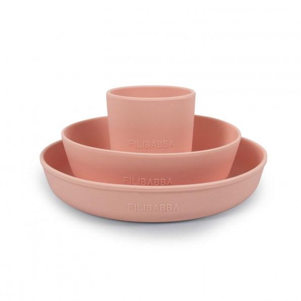 Filibabba silikone spisesæt - Peach