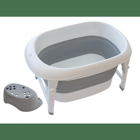 Baby Dan sammenfoldeligt badekar +100L - grå