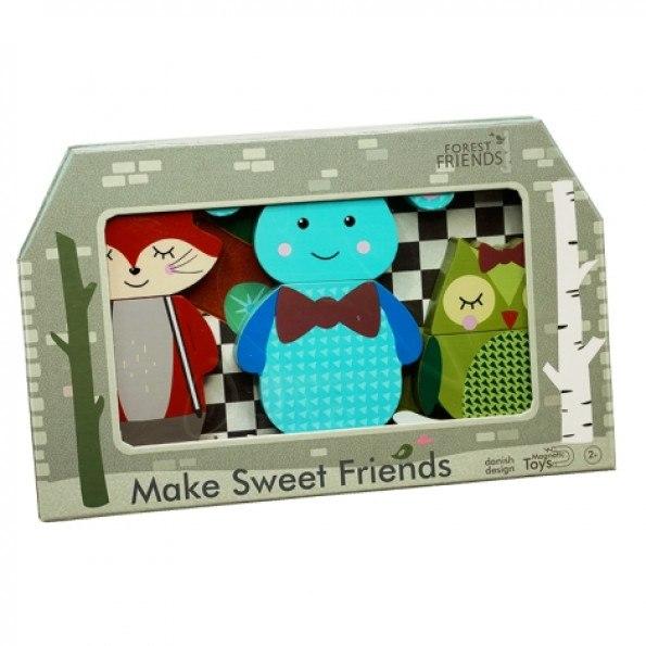 Forest Make Friends - Ugle, Kanin og Ræv Figurer