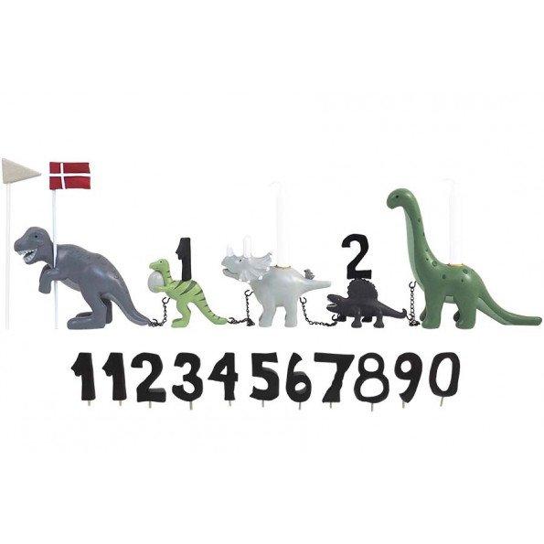 Kids by Friis - Fødselsdagstog m. dinosaur, 11 tal