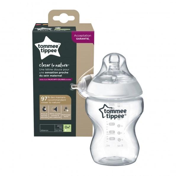 Tommee Tippee sutteflaske 0+ mdr, 260 ml - slow