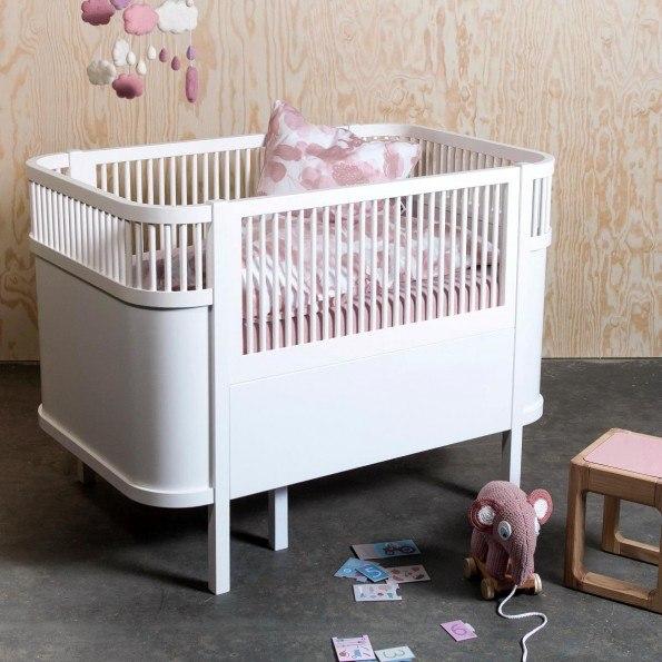 Sebra Seng Baby- og junior - Hvid