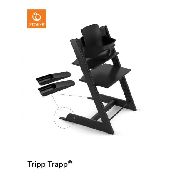 Tripp Trapp højstol + babysæt - sort