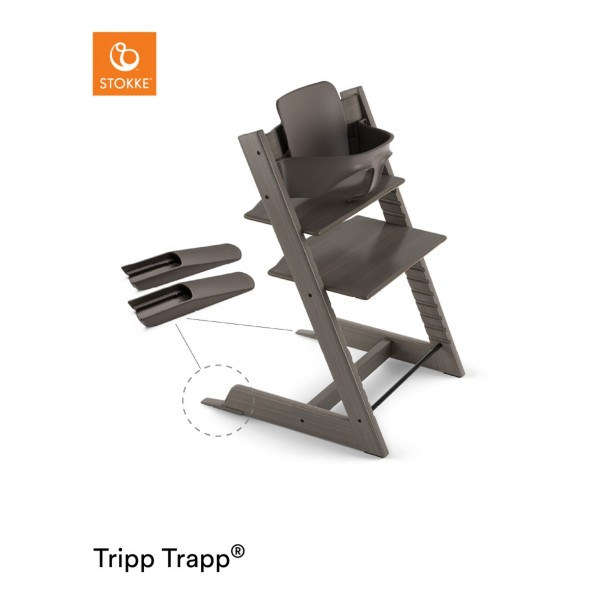 Tripp Trapp højstol + babysæt - hazy grey