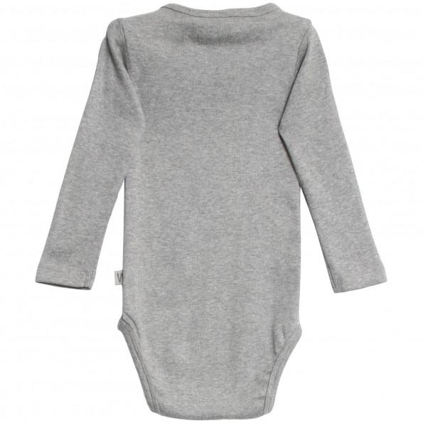 WHEAT langærmet body - Melange Grey