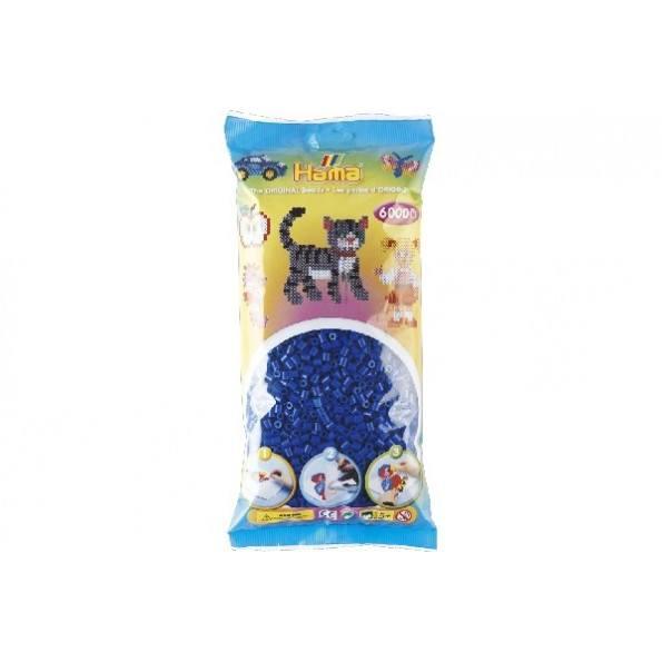 Hama Midi perler 6000 stk. - blå