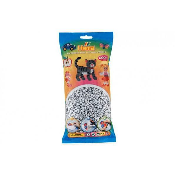 Hama Midi perler 6000 stk. - lysegrå