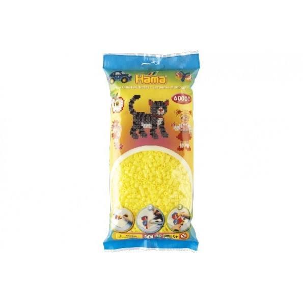 Hama Midi perler 6000 stk. - pastel gul