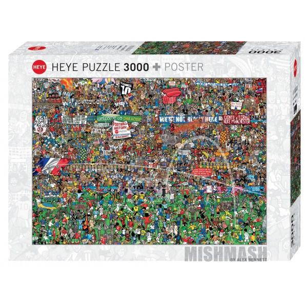 Heye football history puslespil - 3000 brikker