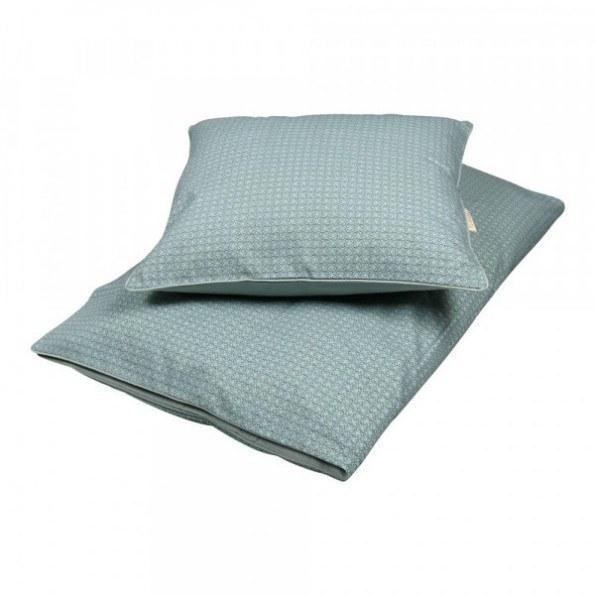 Filibabba Babysengetøj - Leafed Dark Mint - 70x100 cm.