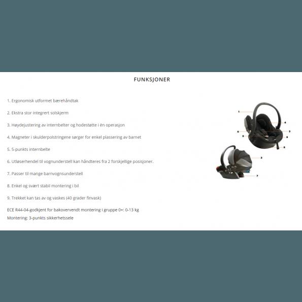 BE SAFE iZi Go X1 Black Cab Autostol (Til isofix og/eller sele montering)