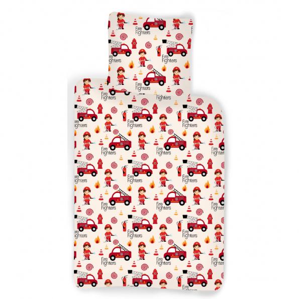 Juniorsengetøj 100x140 - Brandbiler