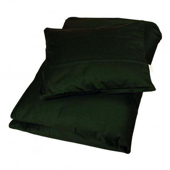 Filibabba sateen juniorsengetøj 100x140 cm - dark green