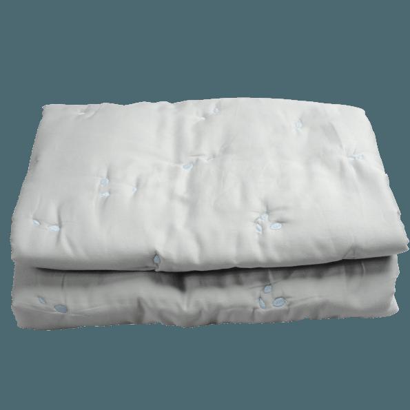 Fabelab Quiltet tæppe 100X140 cm - Foggy Blue