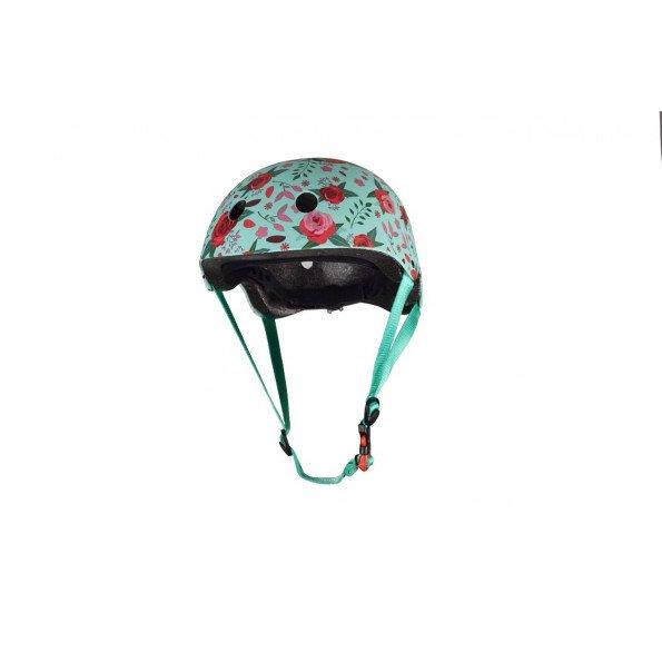 Kiddimoto cykelhjelm str. S - blomster