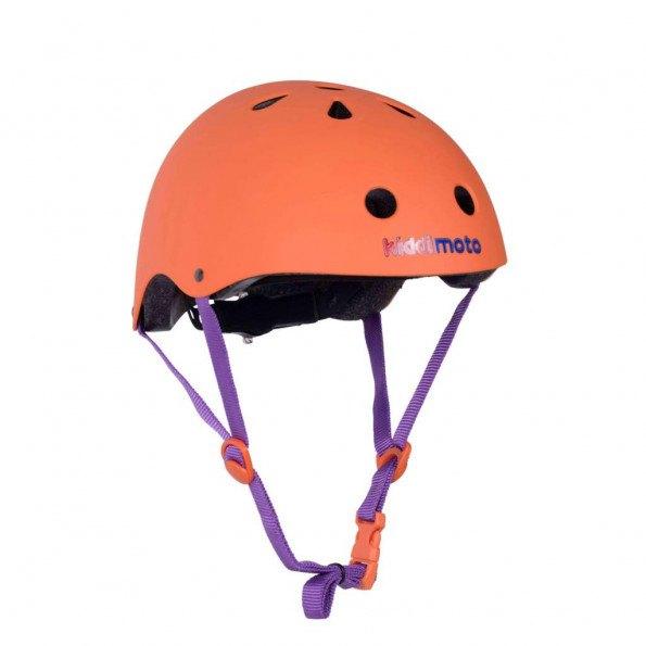 Kiddimoto cykelhjelm str. M - mat orange